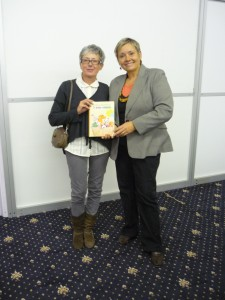S pani Alenou Wagnerovou na Bibliotéke 2011