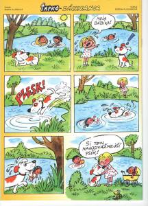 Ťapko záchranca Včielka č. 10, jún 1999