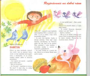 Darček Včielka č. 8, apríl 1998 Ilustrácia: Jozefína Horáčková