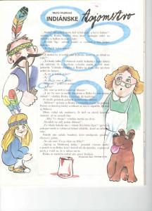 Indiánske tajomstvo Slniečko č. 7, marec 1991 Ilustrácia: Peter Cpin