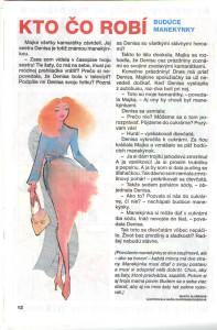 Manekýnky Zornička č. 8, apríl 1996 Ilustrácia: Naďa Rappensbergerová