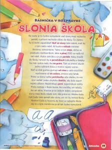 Slonia škola Adamko č. 9, september 2009 Ilustrácia: Alena Wagnerová