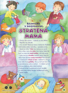 Stratená mama Adamko č. 12/1 december 2009 - január 2010 Ilustrácia: Alena Wagnerová