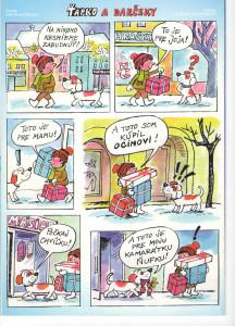 Ťapko a darčeky Včielka č. 4, december 1998