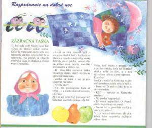 Zázračná taška Včielka č. 8, apríl 1998 Ilustrácia: Jozefína Horáčková