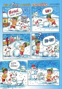 Ako si Ťapko postavil snehuliaka Včielka č. 5, január 1999