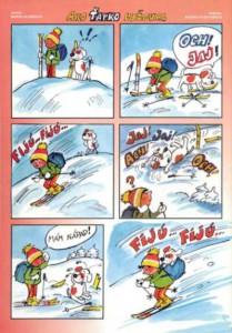 Ako sa Ťapko lyžoval Včielka č. 6 február 1999