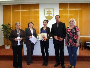 Čestné uznanie pre Mišku Baboľovú z Gymnázia Ivana Kraska v Rimavskej Sobote