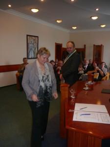 Prijatie spisovateľov u primátora mesta Prievidza