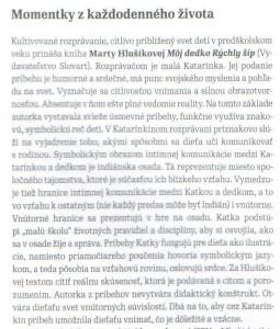 Recenzia Timotey Vráblovej, Knižná revue 14-15 z 9.7.2014, príloha str. 27