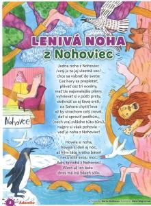 Lenivá noha z Nohoviec, Adamko č. 2, február 2016 – ilustrácie: Alena Wagnerová