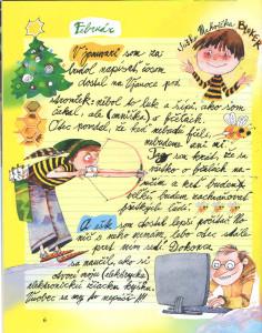 Slniečko č. 6, február 2014, str. 6 ilustrácie: Juraj Martiška