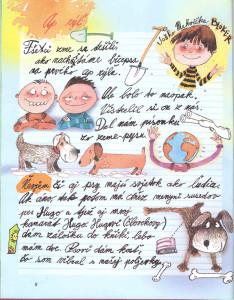 Slniečko č. 8, apríl 2014, str. 8. Ilustrácie: Juraj Martiška