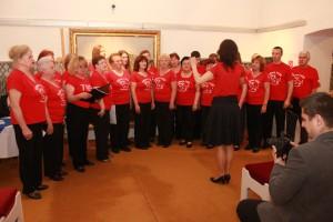 Vítanie knižky otvoril spevácky zbor Bona fide