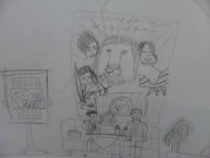 Takto nás nakreslil jeden z čitateľov. Myslím si, že má naozaj talent :)