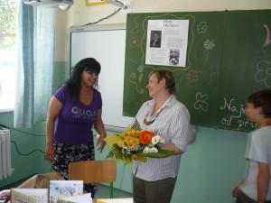 S pani učiteľkou Mgr. Luciou Benkovou, ktorá si ma vyhľadala až v Nových Zámkoch, aby ma presvedčila, že musím prísť do ich školy :)