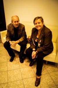 S Petrom Klincom pred besedou s čitateľmi