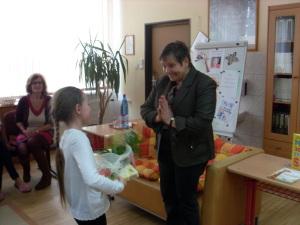 A kvetinovo-sladké poďakovanie za besedu :)