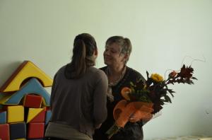 Kytica od kolegov a študentov z rúk Natálie Randlisekovej