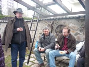Traja mušketieri štetca - zľava Mirko Regitko, Jurko Martiška a Martin Kellenberger