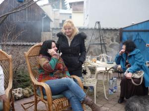 Zľava Ľubka Lintnerová, Danica Pauličková a Janka Šimulčíková