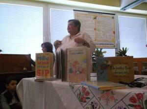 Besedu otvára Klára Volentová z detského oddelenia Novohradskej knižnice