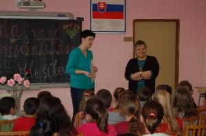 S pani učiteľkou Mgr. Bartovou, ktorá ma na besedu pozvala
