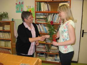 Aký príjemný pocit - pani učiteľka Mgr. Martinka Oravcová, moja bývalá študentka :)