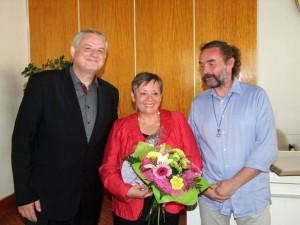s primátorom Hnúšte Mgr. Michalom Bagačkom a riaditeľom ZUŠ Mgr. Miroslavom Bračom