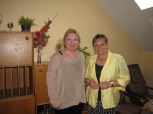S Mgr. Ingridou Šulkovou, riaditeľkou Domu MS v Rimavskej Sobote, po besede.